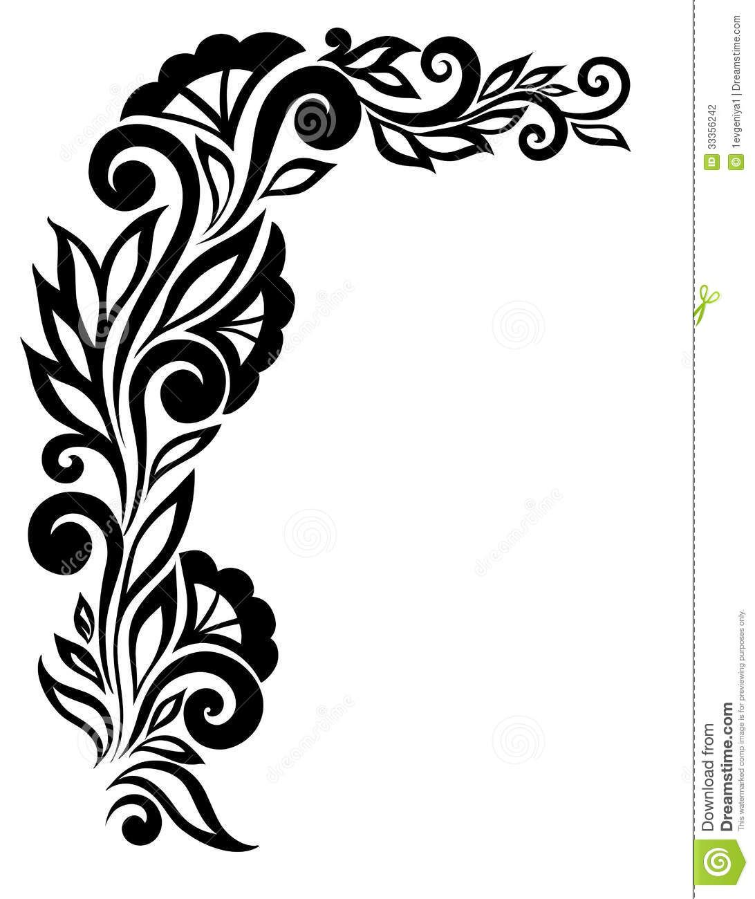 Superb Border Designs Black And White