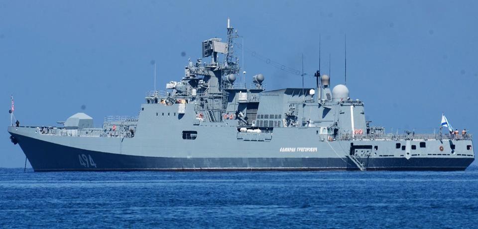 Η Φρεγάτα '' ADMIRAL GRIGOROVICH '' του Ρώσικου Στόλου Μαύρης Θάλασσας στην Λευκάδα.