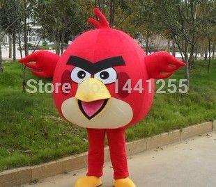 2014 New red bird Mascot costume Free shipping Costume Mascot