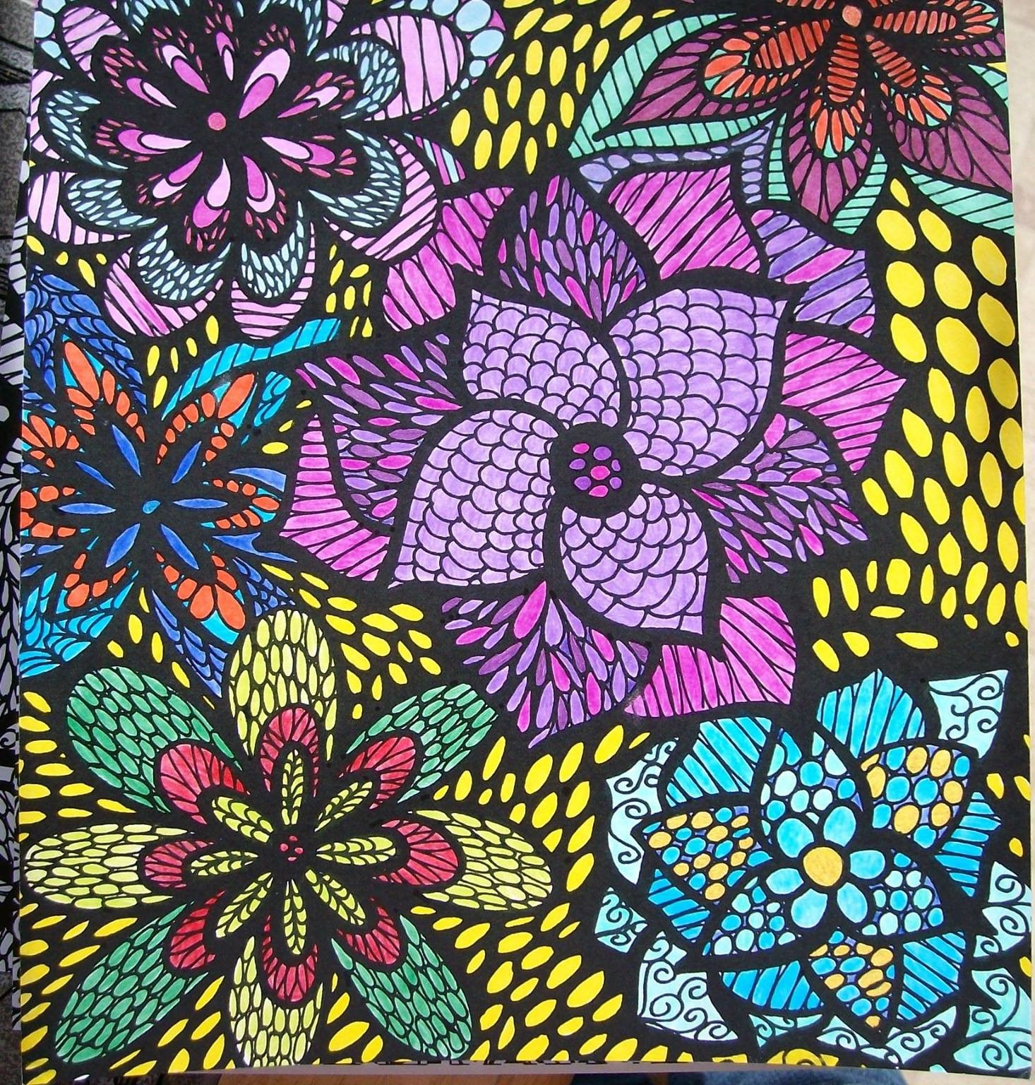 ColorIt Colorful Flowers Volume 1 Colorist Becky Wilson Adultcoloring Coloringforadults