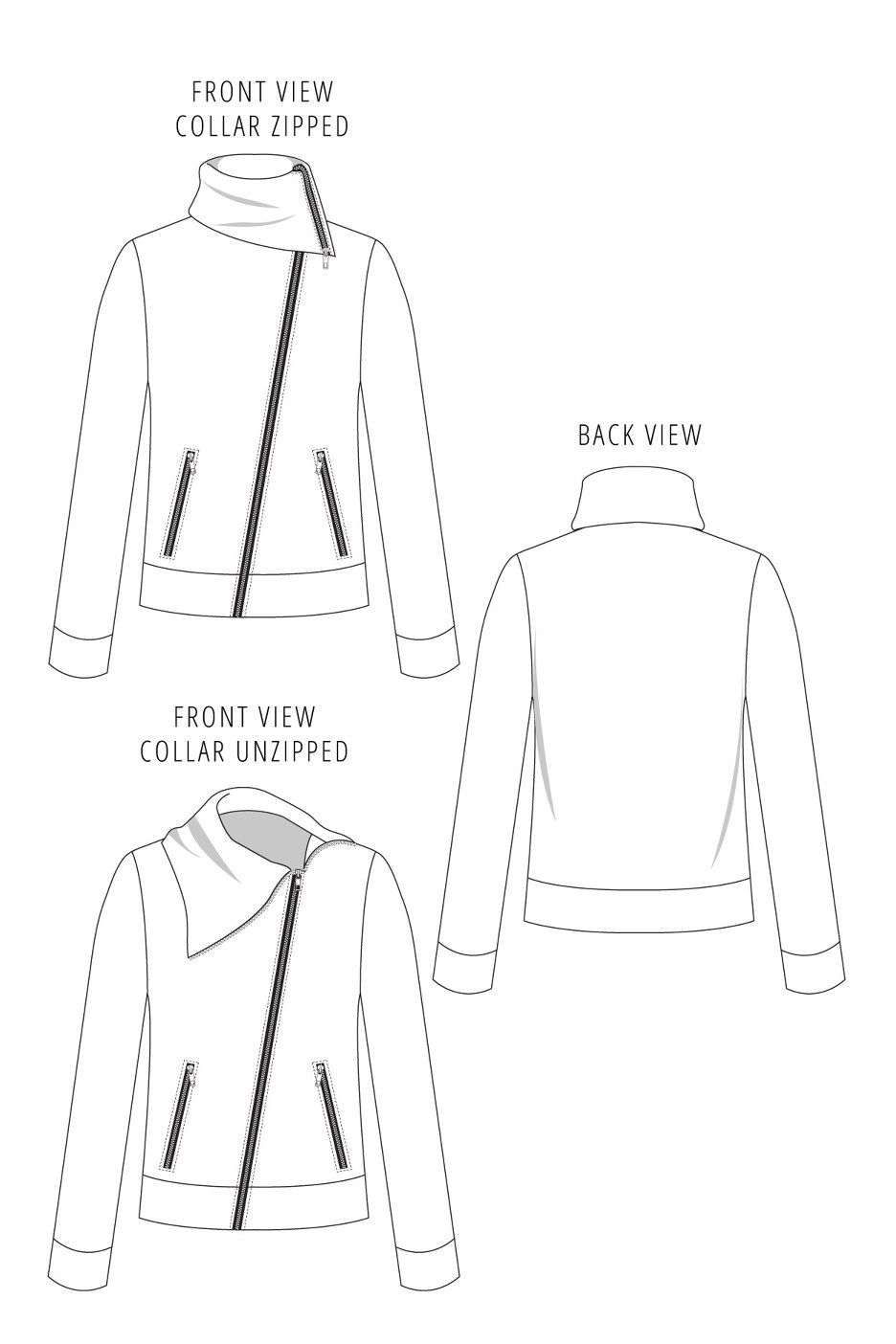 Moto Sweatshirt Sewing Pattern by Seamly   wardrobe architect ...