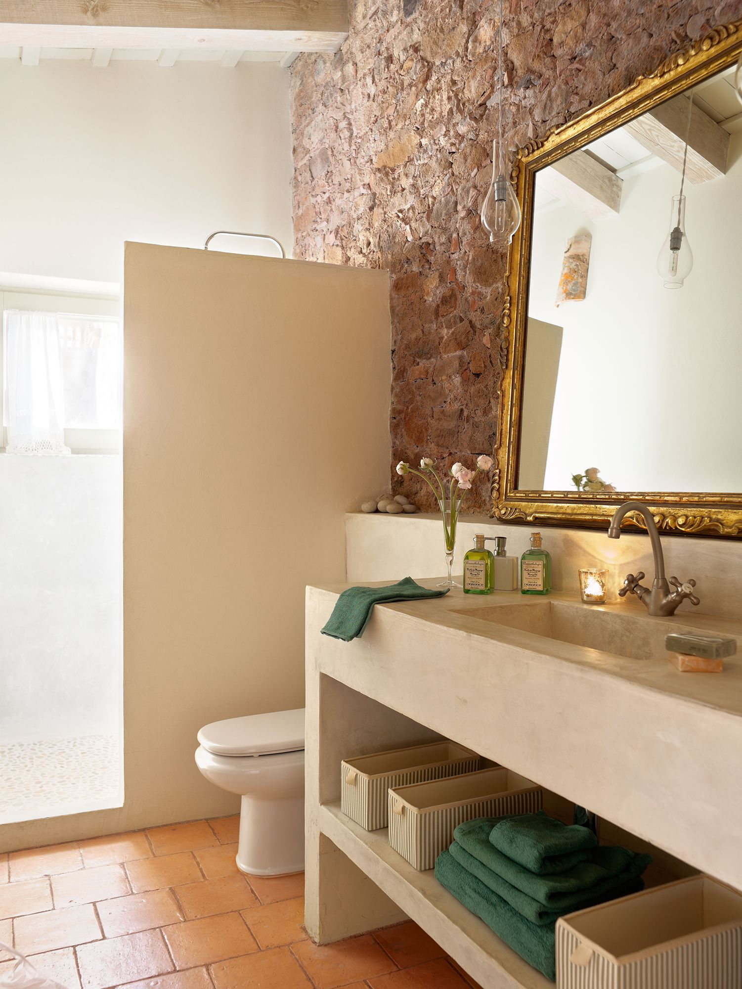 Mueble Rustico Baño Tipo Libro Fürdő Bathroom Pinterest Bathroom Mirror és