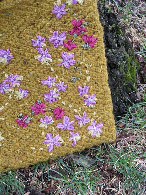 #flowers #nature #ribbon #embroidery