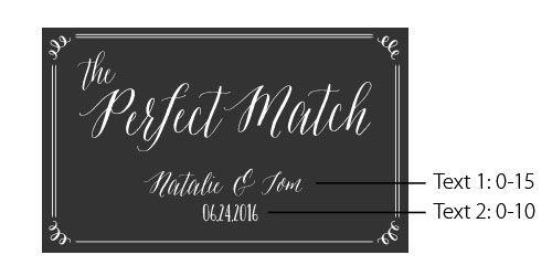 Personalized Black Wedding Matchboxes - Wedding | My Wedding Favors