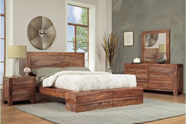 This Bedroom Set Has The Look Of Drift Wood Bringing A Natural Outdoorsy Feel To The Room Pair It With Sandy Colored Walls And Bedroom Sets Home Bedroom Set