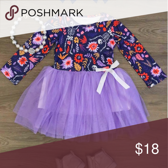 Purple Skeleton Tutu Dress New In Package Soft Soft Tulle