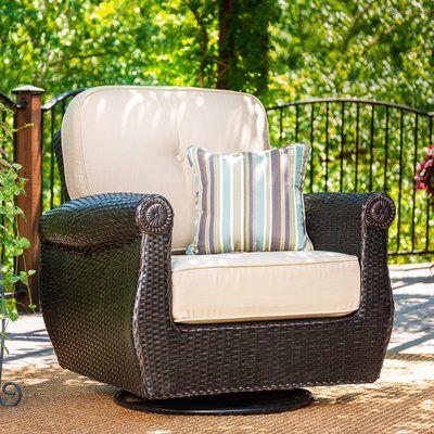 La Z Boy Outdoor Breckenridge Patio Chair With Sunbrella Cushion Cushion Color Spectrum Sand Tan Sunbrella Cushions Patio Chairs Wood Patio Chairs