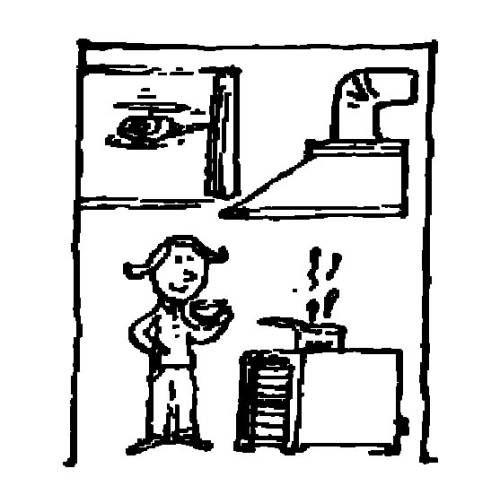 menschen und ihr zuhause küche zum ausmalen  dessin
