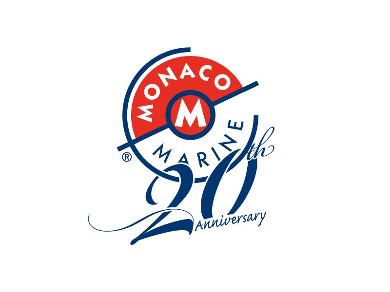 monaco marine 20th anniversary logo design www celineducros com rh pinterest co uk anniversary logos for companies anniversary logos for businesses