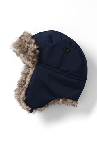 77abcccfee08d Kids Faux Fur Lined Trapper Hat from Lands  End