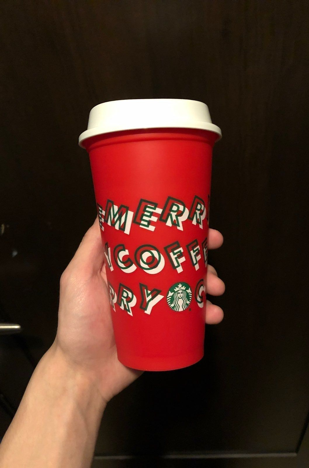 Starbucks reusable holiday cup. Brand new Bring the cup to