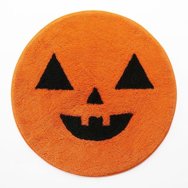 scare away spooks while inspiring grins with this halloween bath rug in orange - Halloween Rugs