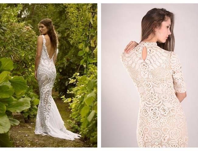 Crochet Wedding Dress Inspiration | Dresses | Pinterest | Crochet ...