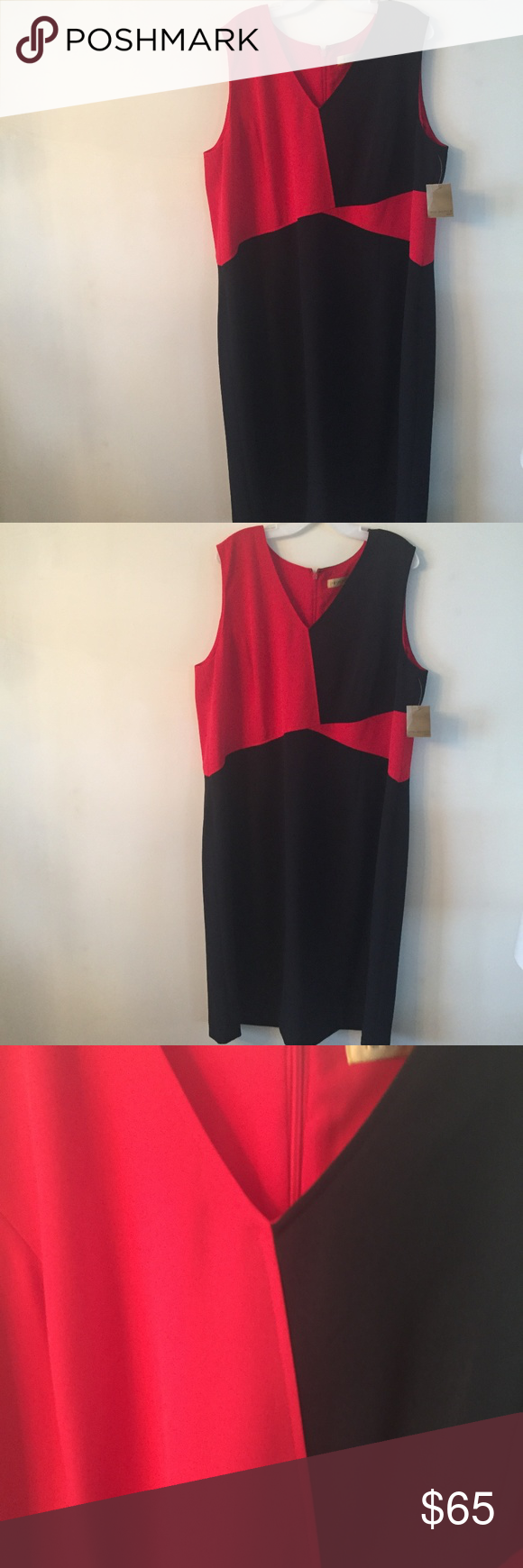 Nwt nipon boutique sheath dress w boutique color red and red