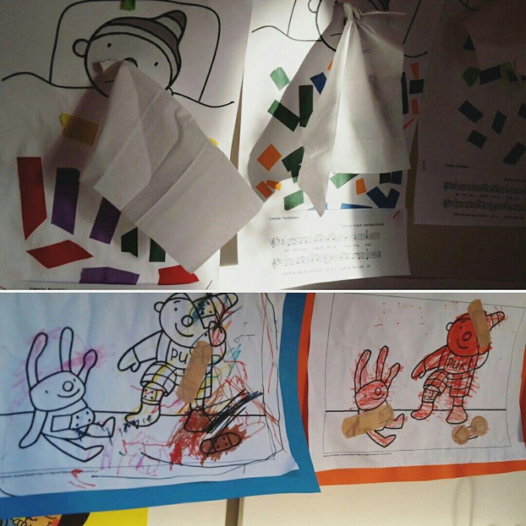 kleurplaat puk thema hatsjoe ziek zijn pleisters