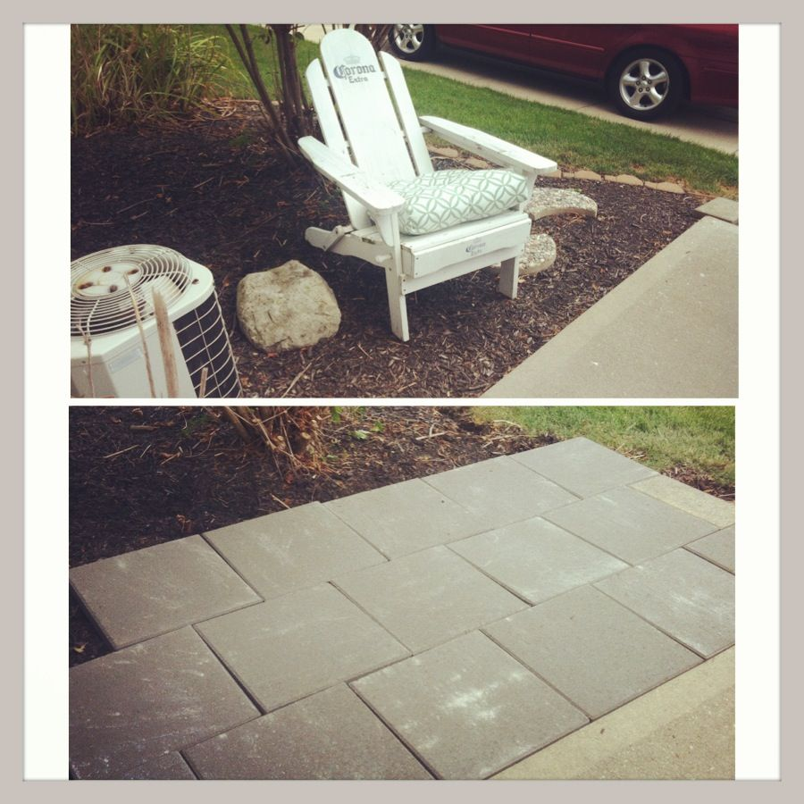 #patio   16x16 Pavers From Lowes In A Brick Pattern