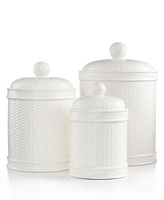 stewart kitchen canisters martha stewart collection canisters set of 3 whiteware