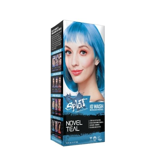 Splat 10 Wash Temporary Hair Dye 6 Oz Novel Teal Temporary Hair Dye Temporary Blue Hair Dye Splat Hair Color