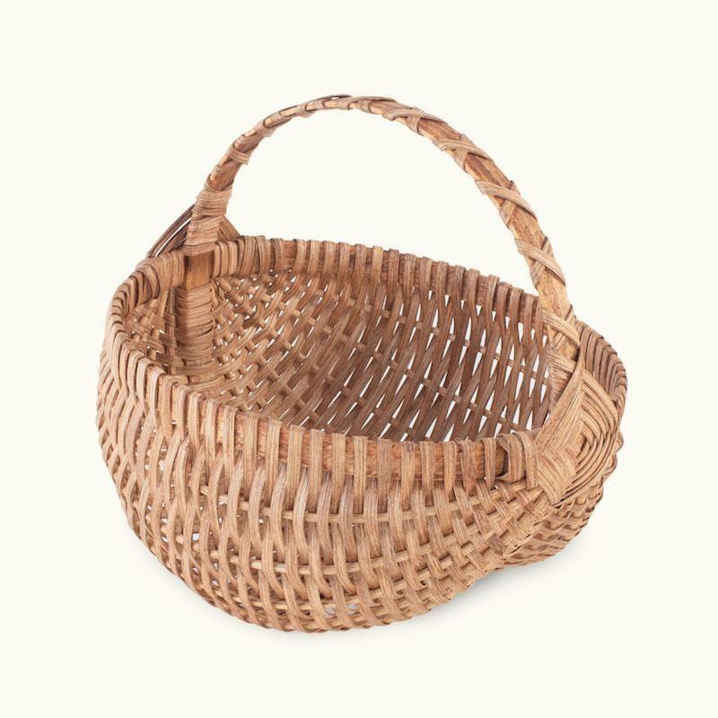Natural Handwoven Rattan chicken basket egg storage