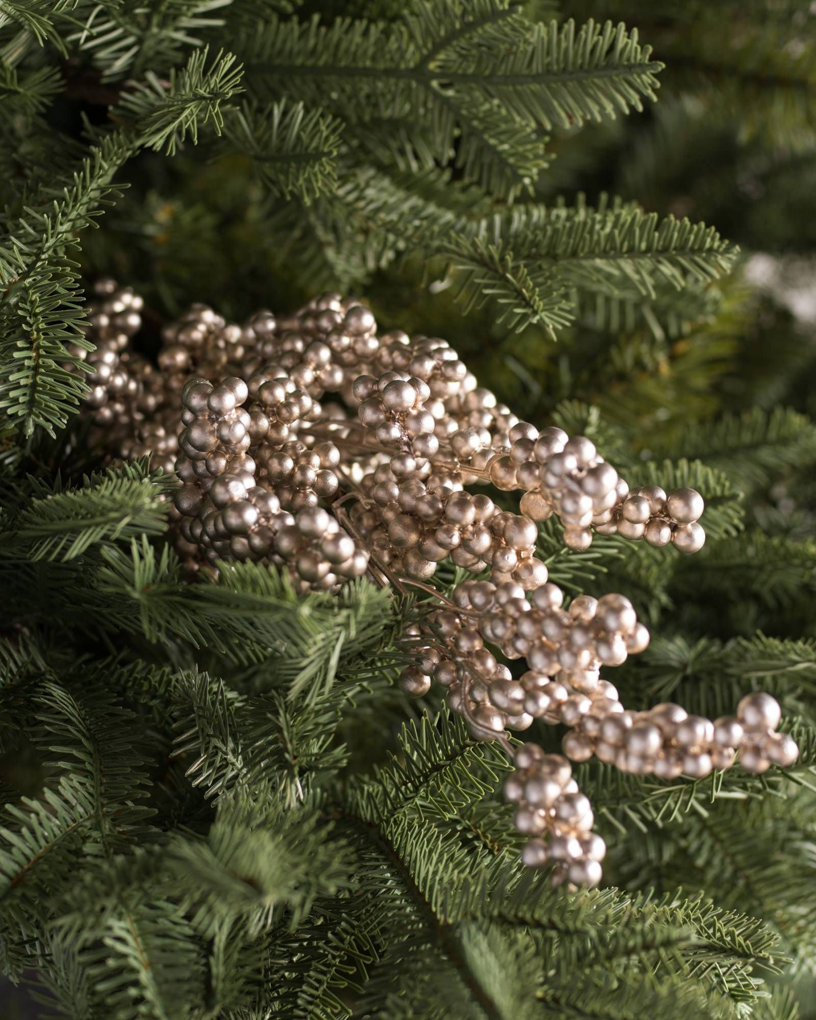 Metallic Berry Picks Set Of 12 Balsam Hill Berries Christmas Picks