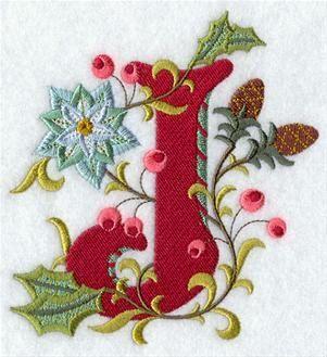 jacobean christmas letter j 5 inch