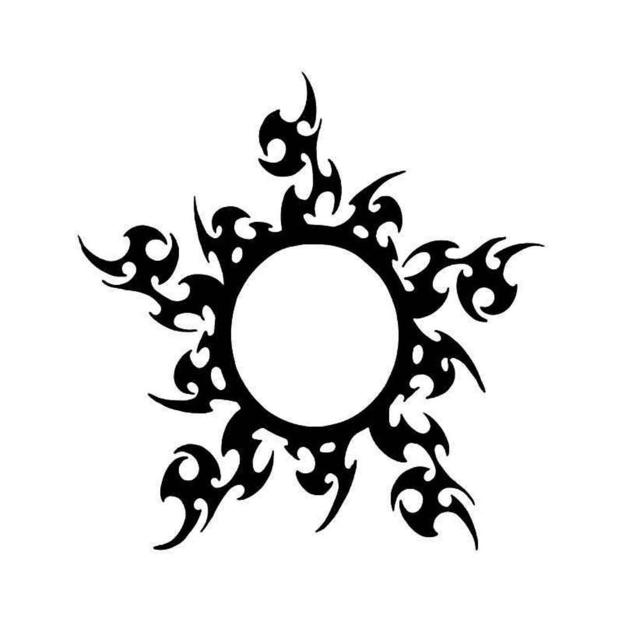 Tribal Sun 9 Vinyl Decal Sticker