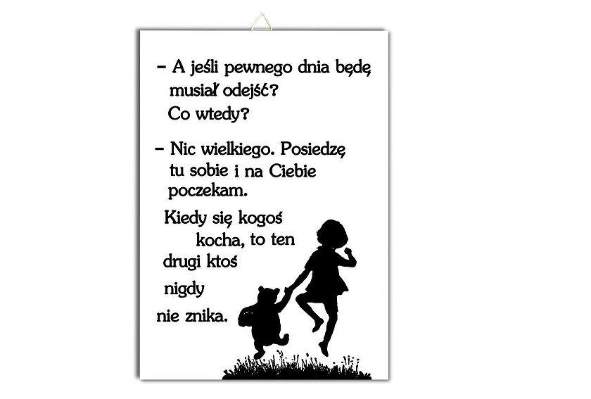 Plakat Kubus Puchatek Cytat Napis Milosc Tesknota 7601960337 Oficjalne Archiwum Allegro Quotes You Are Amazing Memes
