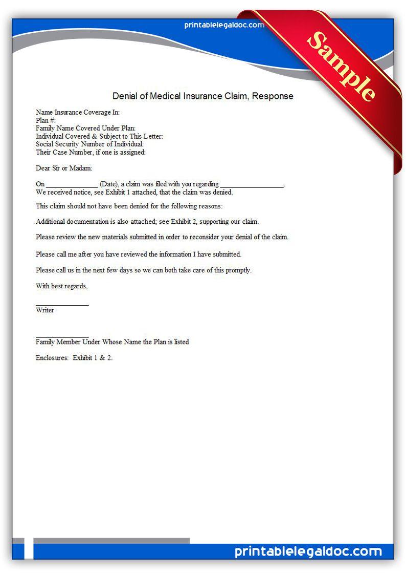 Printable Credit Denial Notice Template Printable Legal Forms