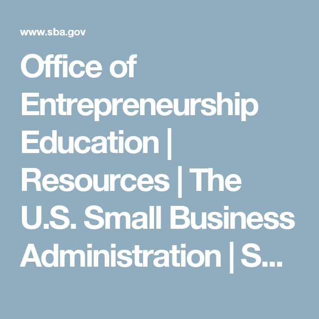 Office Of Entrepreneurship Education