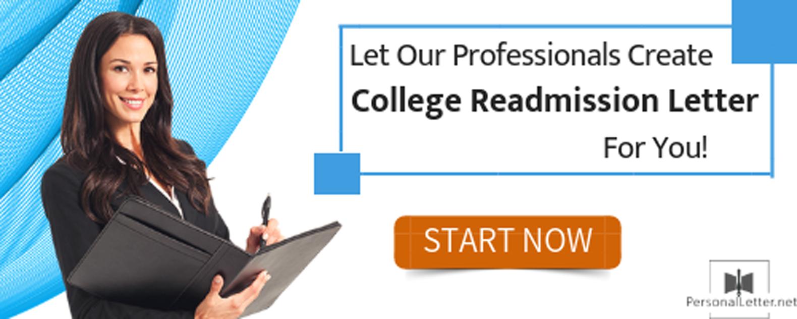 College Readmission Letter Sample