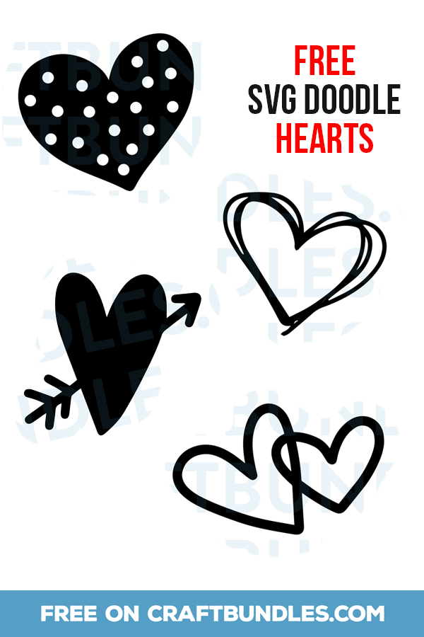 Download FREE Doodle Hearts | Free doodles, Heart graphics, Heart ...
