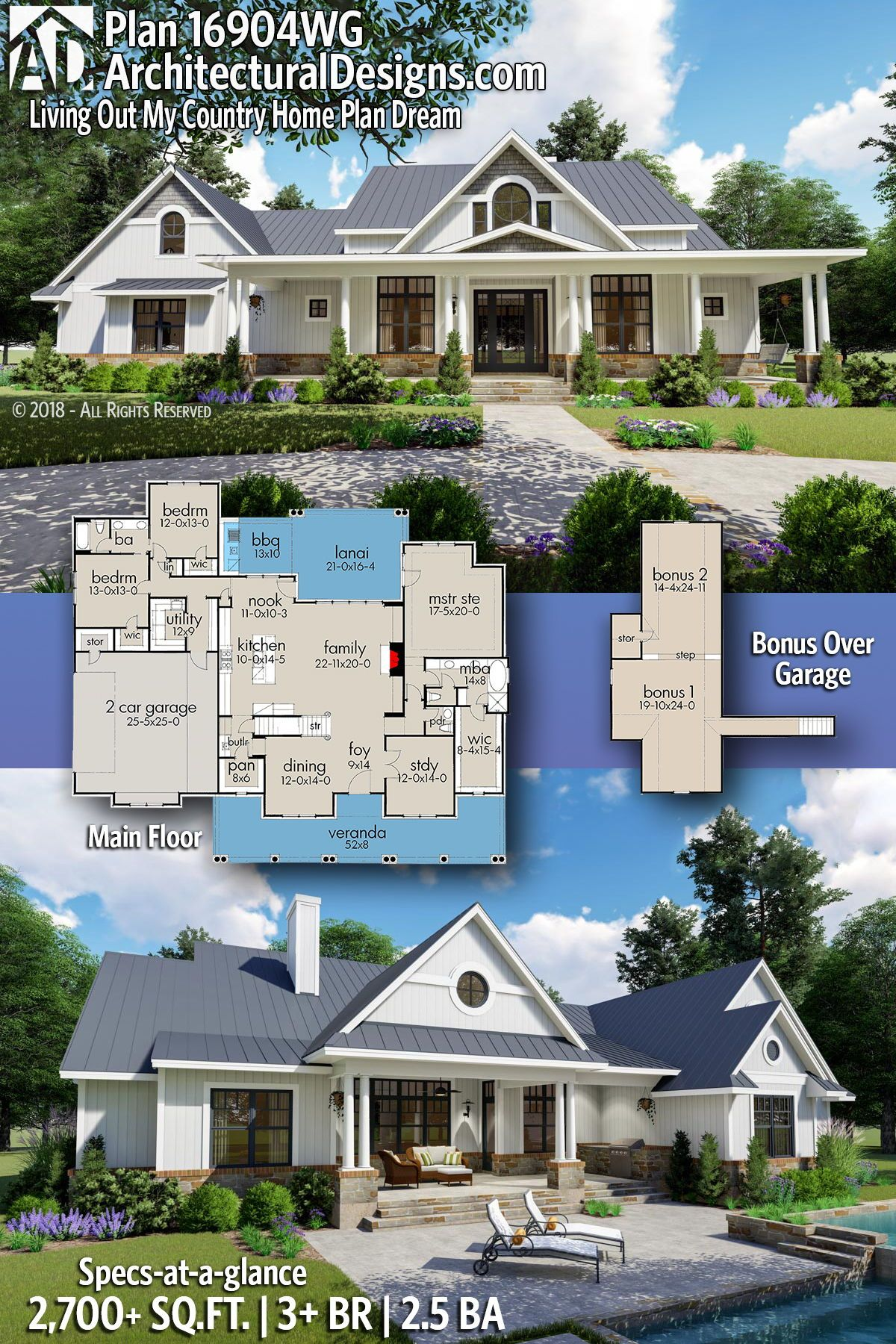 Plan 16904WG Living Out My Country Home