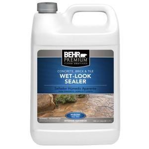 Behr Premium 1 Gal Wet Look Sealer 98501 In 2019