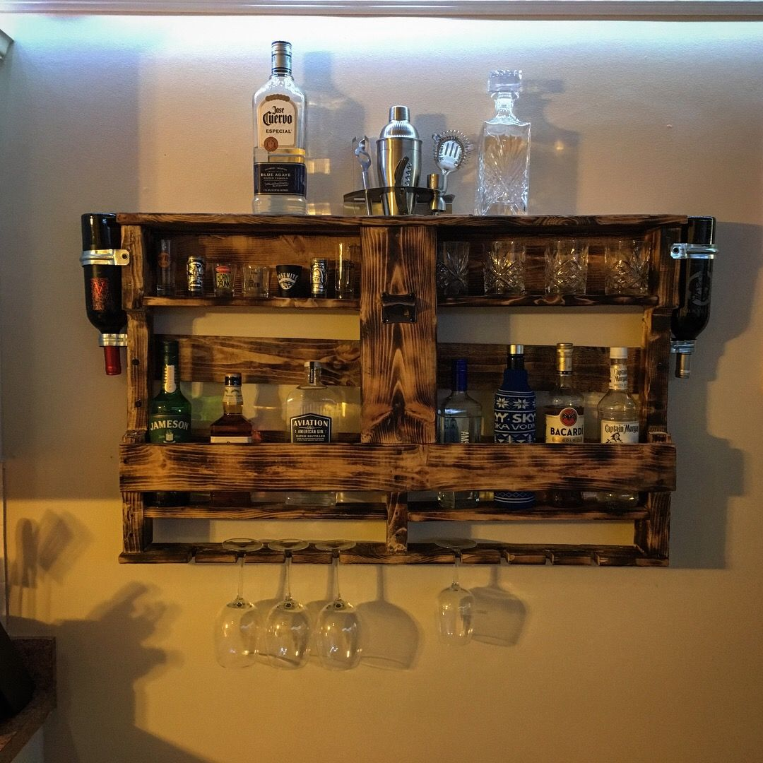 Pallet Liquor Cabinet Pallet Home Decor Bars For Home Wine And