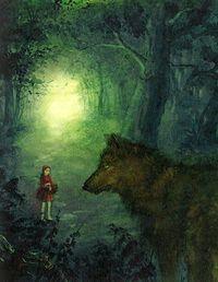Rotkappchen Illustrationen Rotkappchen Illustration Grimms Marchen