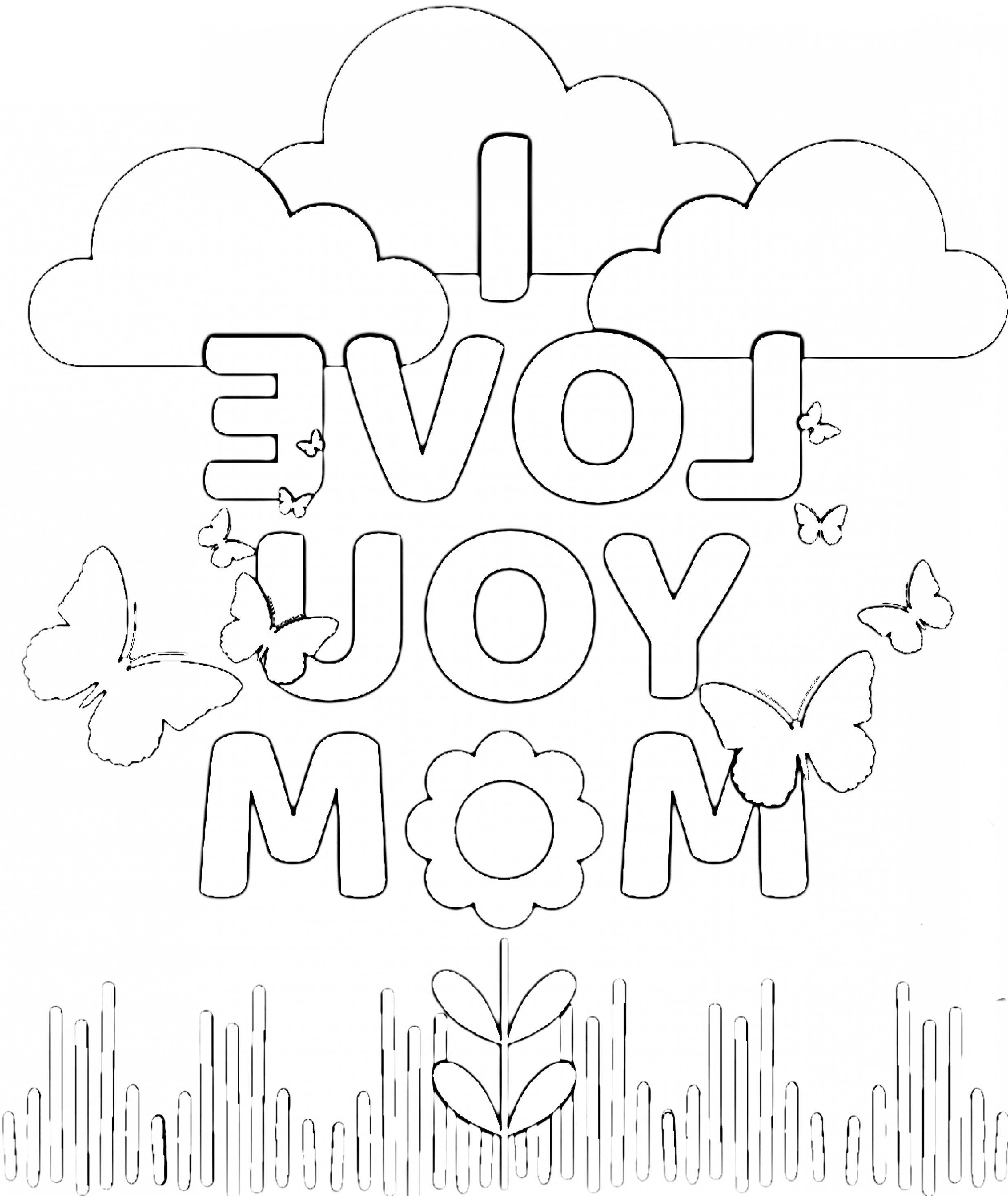 15 New Thoughts About Coloring Pages For Your Mom That Will Turn Your World Upside Dow Mom Coloring Pages Free Printable Birthday Cards Birthday Card Printable