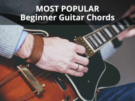 This beginner guitar chords chart shows you how to play the most ...