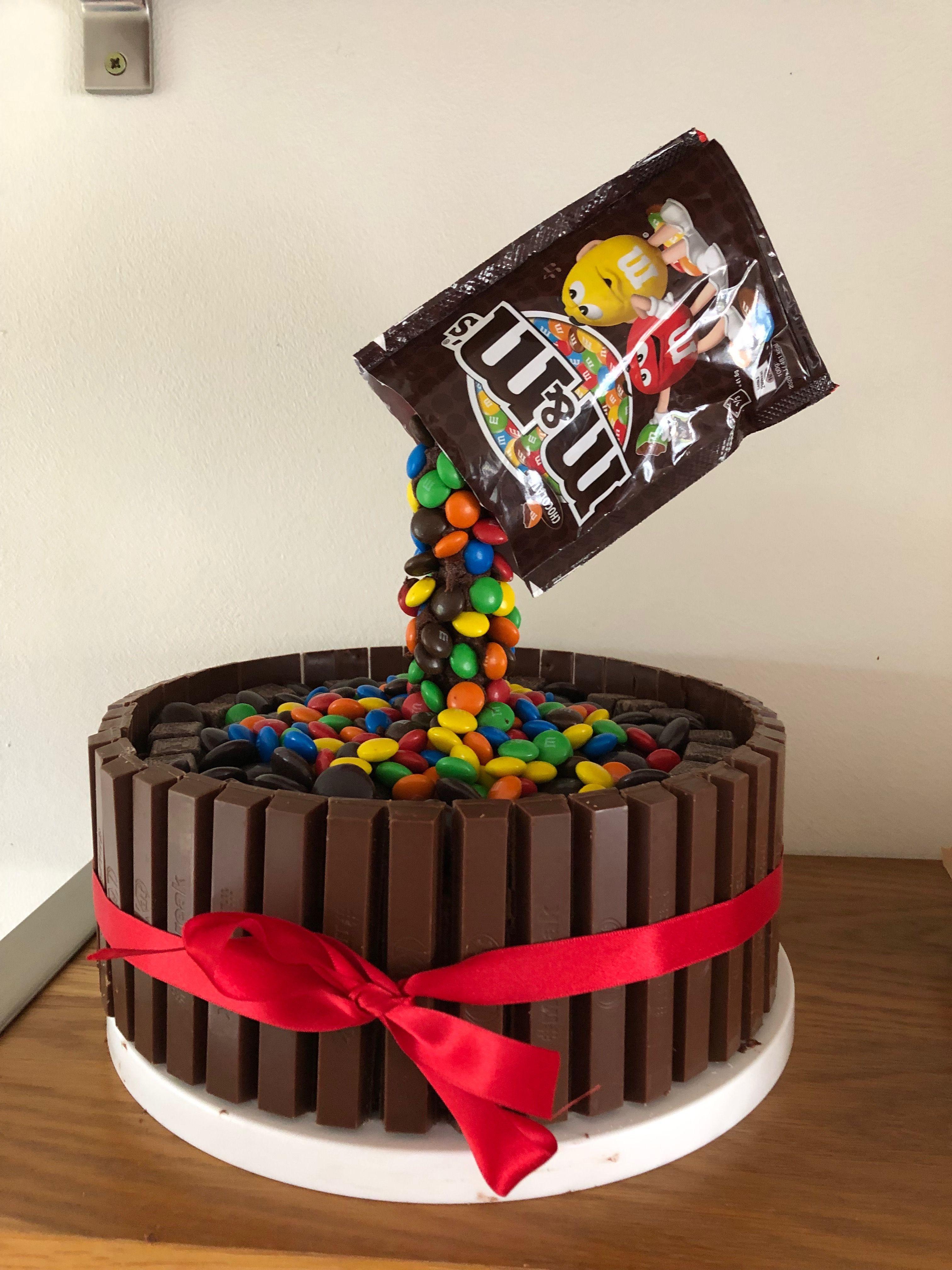 M M Chocolate Anti Gravity Birthday Cake Gravitycake M M