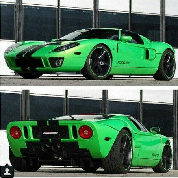 Precioso Ford Gt De Color Verde