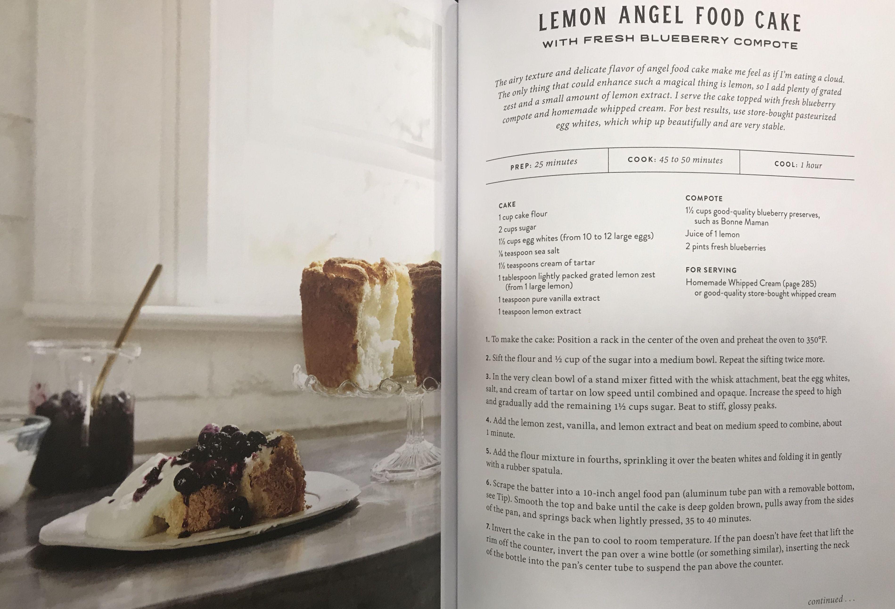 Joanna Gaines Lemon Angel Food Cake Lemon Angel Food Cake Angel Food Cake Angel Food