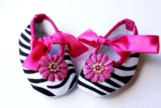 Baby Doll Zebra Print Crib Shoes