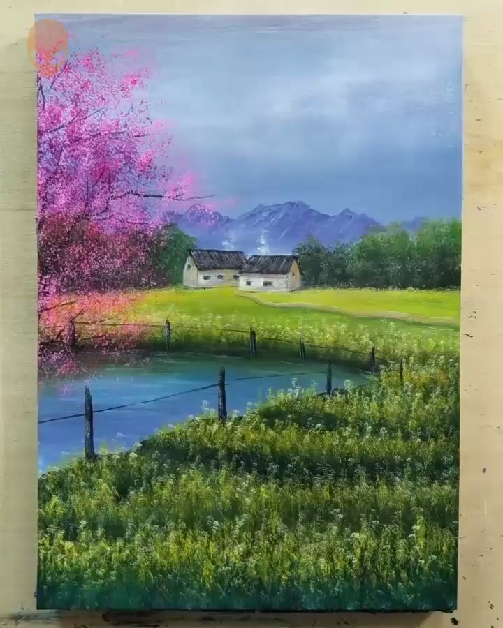 20 Pretty Landscape Painting Ideas – Painting Tutorials Videos | Part 5