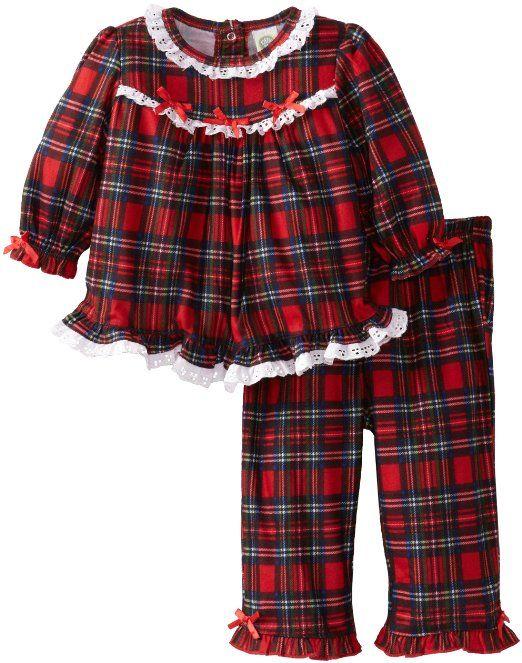 ad6ccb085412 Little Me Baby-Girls Infant Christmas Plaid 2 Piece Pajama  Clothing ...