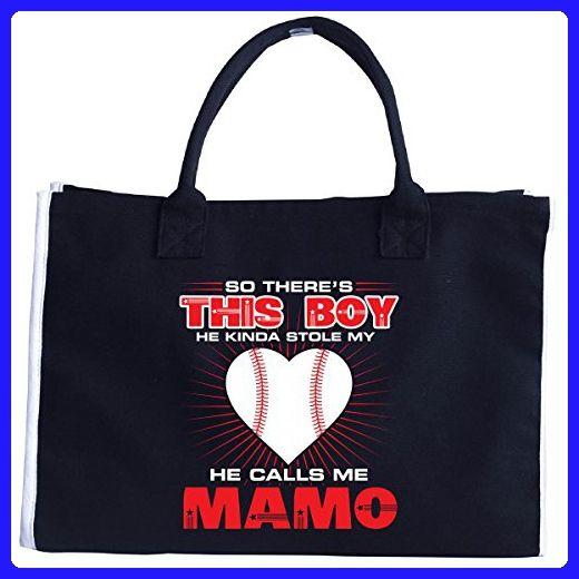 This Boy He Kinda Stole My Heart Calls Me Mamo - Tote Bag - Top handle 77f285a22a