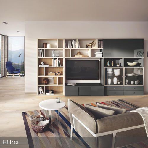 Wohnwand In Grau-Weiß | Hülsta, Nüchtern Und Tv Möbel
