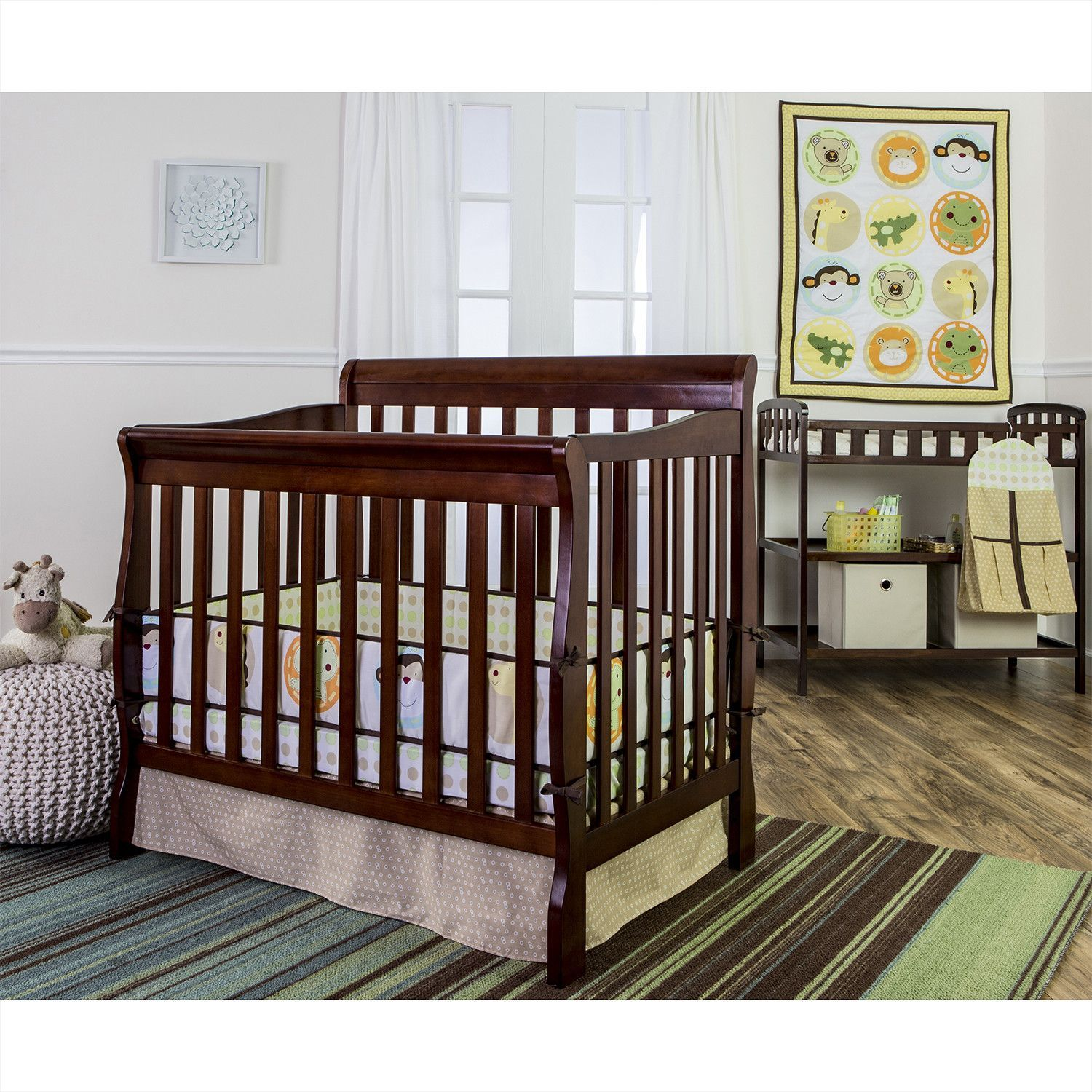 Gocrib adventure crib for sale - Animal Kingdom 5 Piece Crib Bedding Set