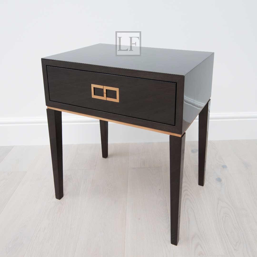 Luxuryfurniturelondon Com New Luxury Bedside Table Luxury Bedside Table Gray High Gloss Sycamore Bronze Furniture Cozy Bedroom Diy Classic Bedside Tables