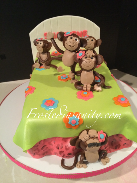 Frosted Insanity Monkey Birthday Parties Bed Cake Birthday Cake Kids