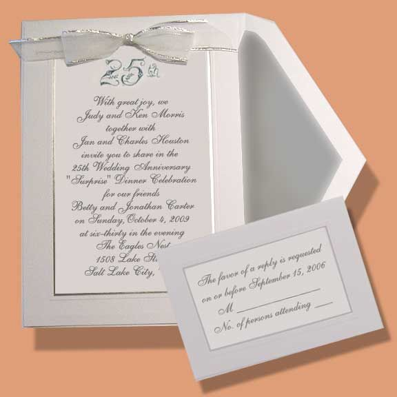 Embossed Wedding Anniversary Invitations Item Be We Print