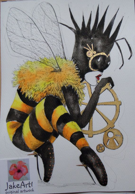 Hey, I found this really awesome Etsy listing at https://www.etsy.com/il-en/listing/289935449/queen-bee-steampunk-queen-bee-original
